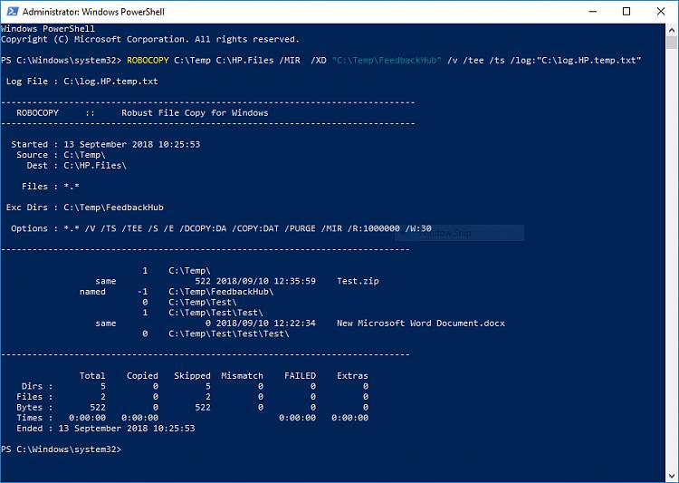 Cyberlink and Feedback Hub | Robocopy Mirroring Part II - Windows 10