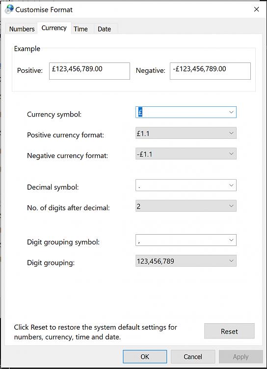 How To Set Gbp Symbol When Using Australian Keyboard Windows 10