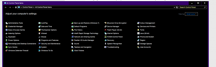 Dark File Explorer Issue after 1803 October update.-controlpanel.png