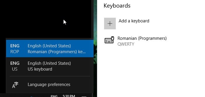 Available keyboard layout that does not show up in settings