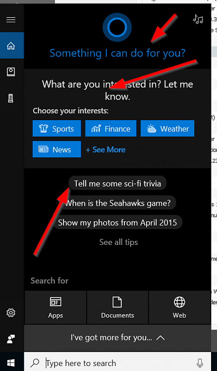 How to get rid of all the tips and cortana garbage on search toolbar?-crap-cortana.png