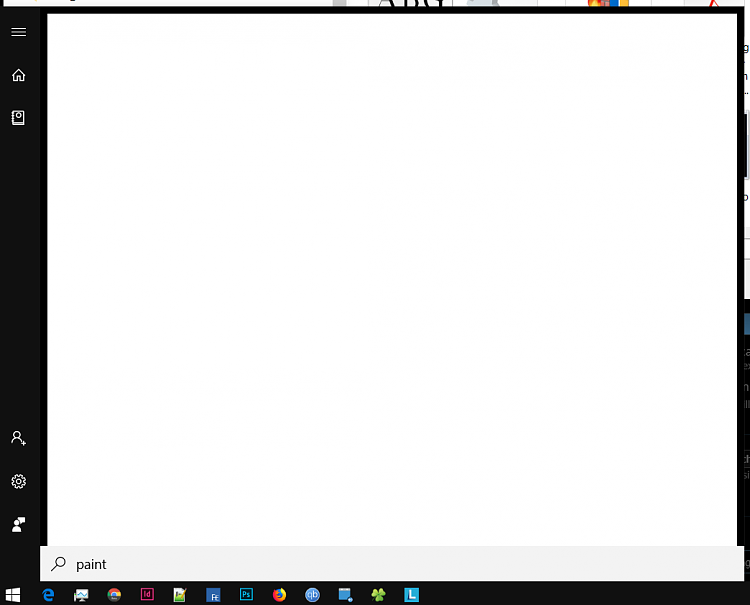 Strange white Blank Search result (start menu) Solved