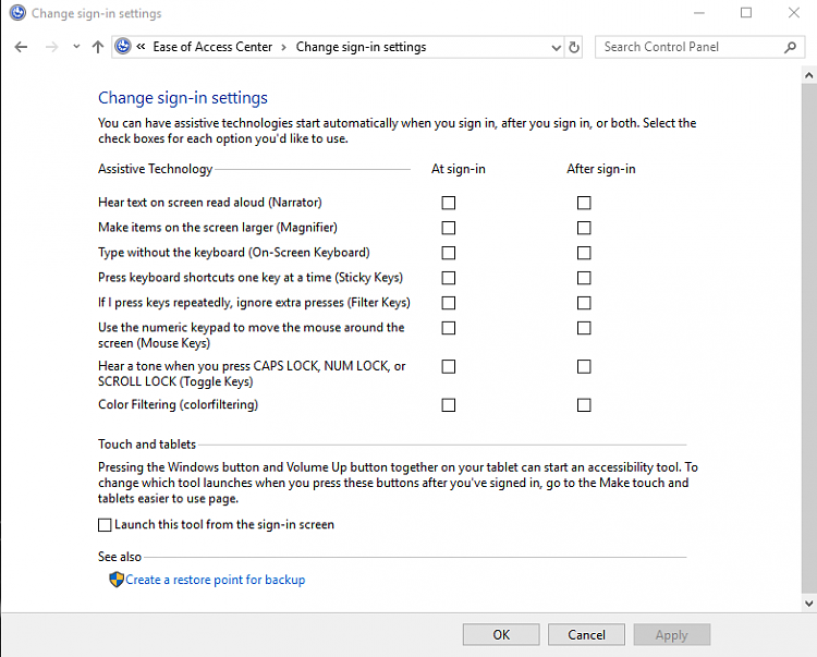 Narrator voice randomly speaking on Windows 10-sign-options.png