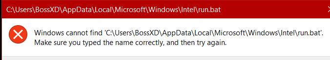 Windows kann beim Start keine Datei finden und der Computer friert zufällig ein.
