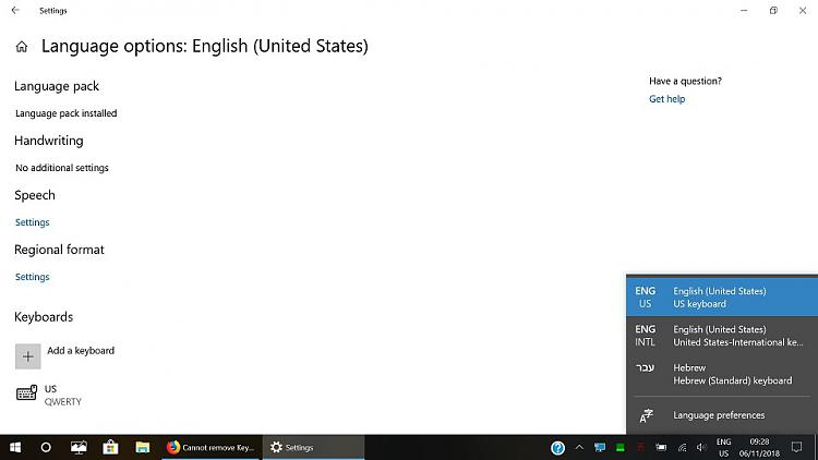 Cannot remove Keyboard layout indefinitely Solved - Windows