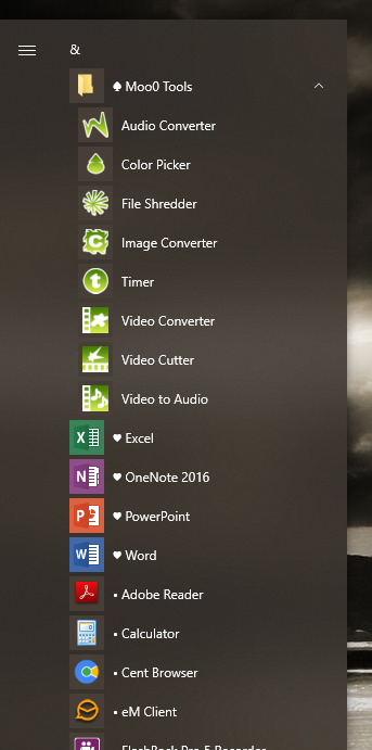 Windows 1809 START menu forgets new folder and changes in app list-001210.png