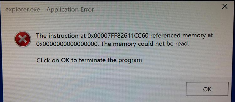 Explorer.exe - Application Error every time I shut down - Windows 10