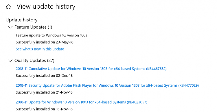 Win10 keeps compressing C drive files (new and old). Cannot stop it.-last-windows-update-history.png