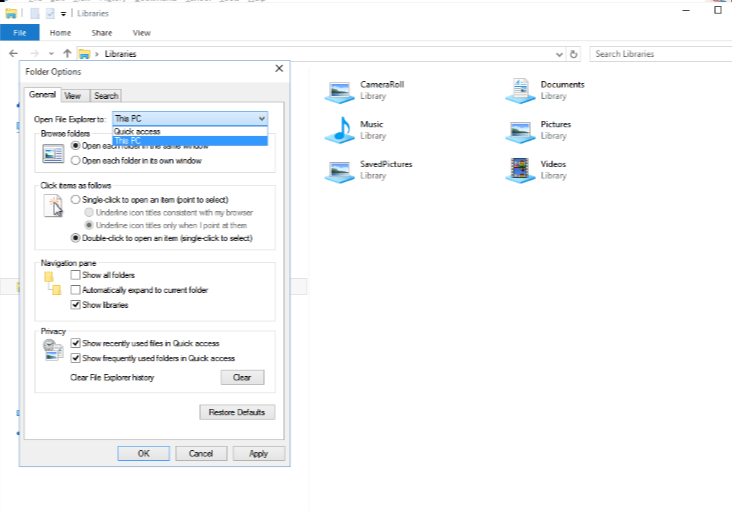 How do you get file explorer to open libraries by default ?-openfile.png
