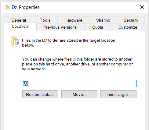 I messed up moving Documents folder location to D:\-d.png