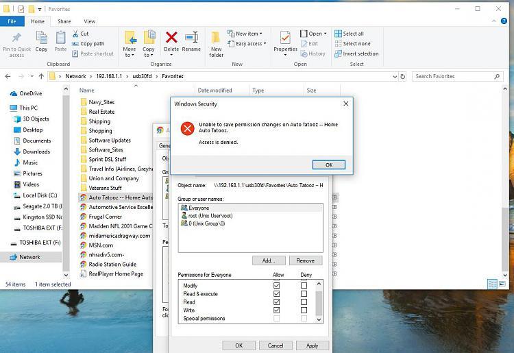 Internal Hard Drive Access Denied Windows 10