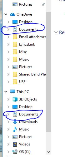 """""""This PC"""" My Documents folder pointing to One Drive and Cannot Change-files.jpg"""
