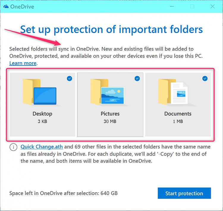 """""""This PC"""" My Documents folder pointing to One Drive and Cannot Change-2019-01-06_18h14_59.png"""