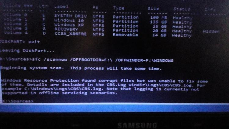 Boot Error 0xc000007b - acpiex sys missing or corrupted - Windows 10