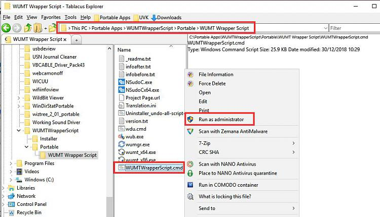 compattelrunner windows 7 disable