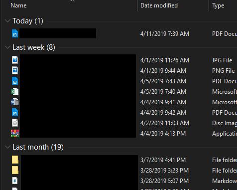 Date separator in Downloads folder Solved - Windows 10 Forums