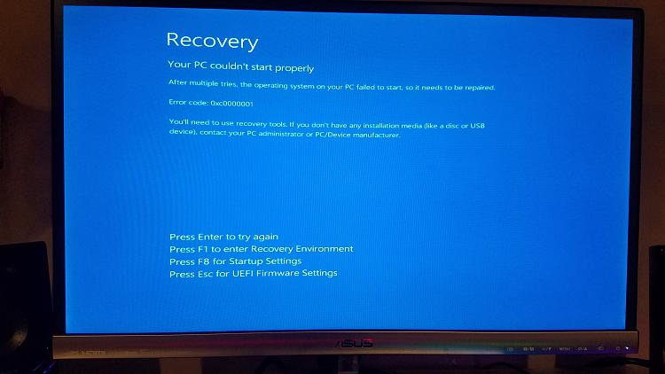 Computer will not boot after adding second HDD - Windows 10