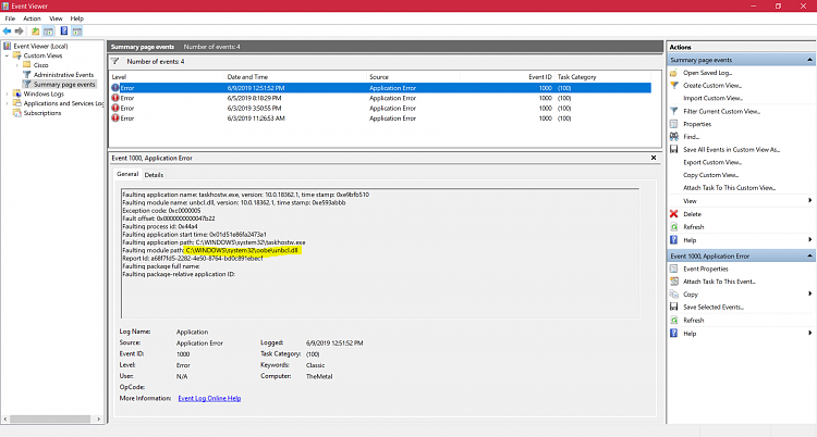 Host Process For Windows Tasks stopped working, Windows 10 1903-dll.png