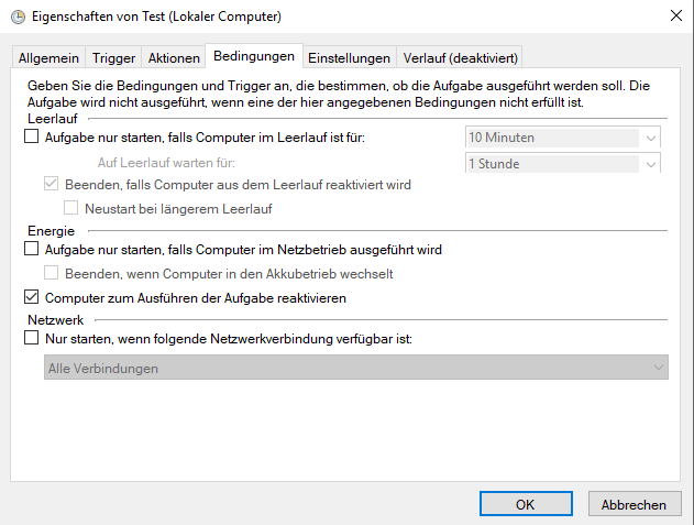 Win10 Scheduled wake up doesn't work if sleep is initiated