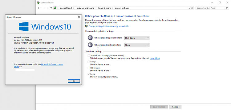 1903 changed Fast Startup settings?? Solved - Windows 10 Forums