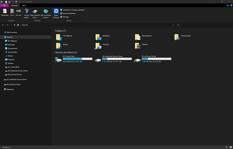 Search Box Missing from File Explorer through 3 Insider Updates-no-search-box.jpg