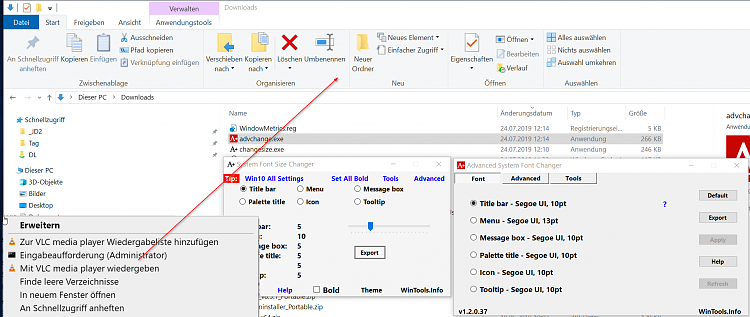Increase File Explorer Text Size without increasing anything