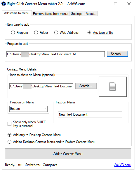 How to add or move New Text Document to the right click main context ?-aaa.png
