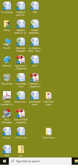 Right pointing double angle icons on all desktop file icons-screen.jpg