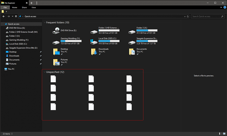 Files White bug from File Explorer Quick Access-filesmissingonquickaccess.png