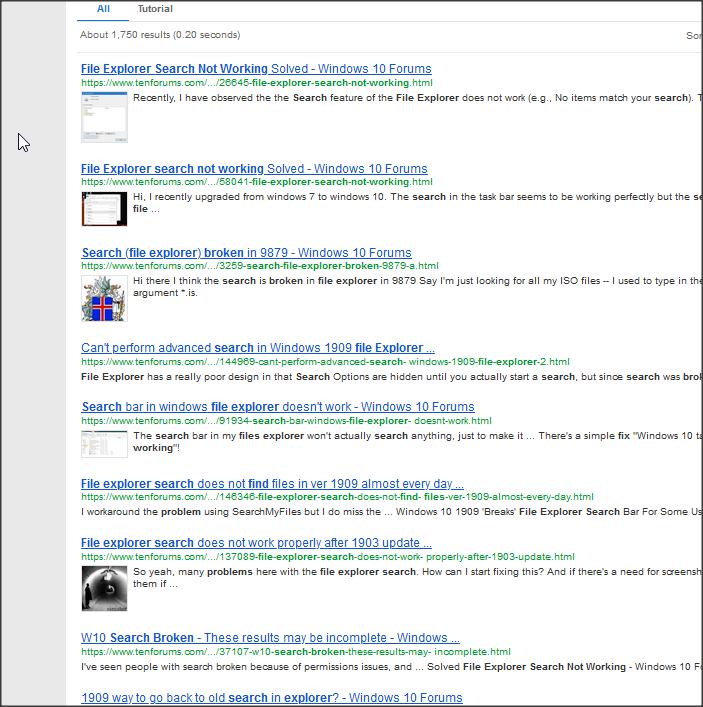 Windows explorer search 1909 boken, freezes, crashes not responding.-1.png