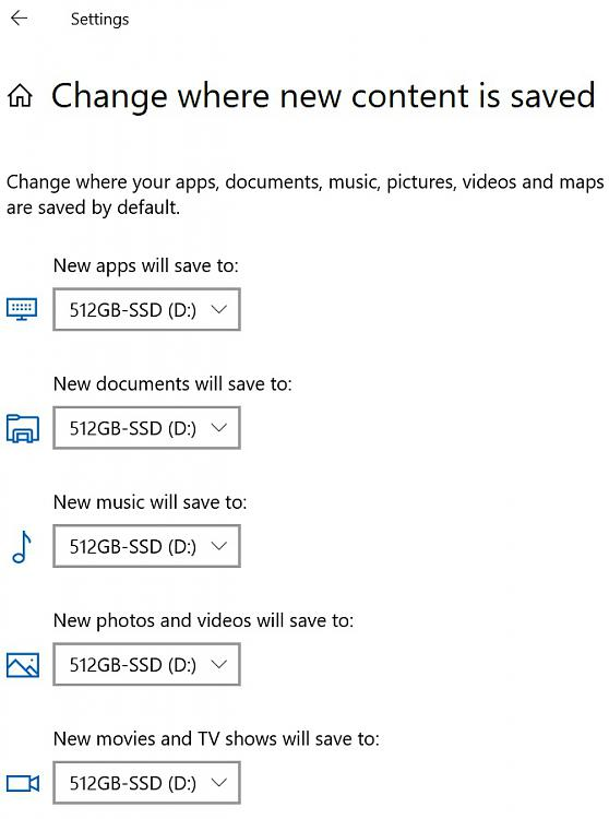 New Windows 10 Laptop - want to move 'Documents' folder to D: Drive-where-save-content.jpg