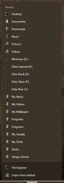 "Windows Explorer's Jumplist reads ""frequent"" but shows recent-000128.png"