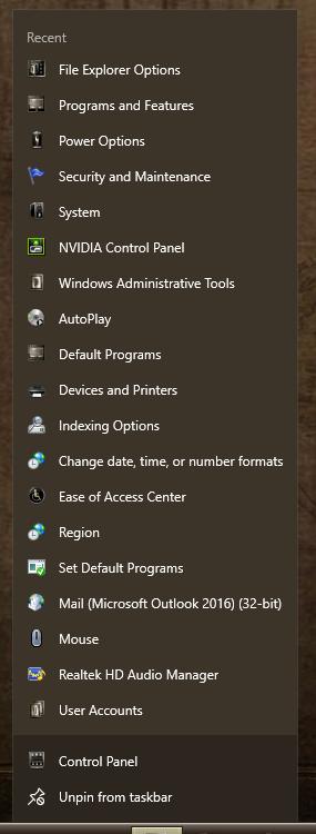 "Windows Explorer's Jumplist reads ""frequent"" but shows recent-000129.png"