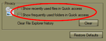 "Windows Explorer's Jumplist reads ""frequent"" but shows recent-000131.png"