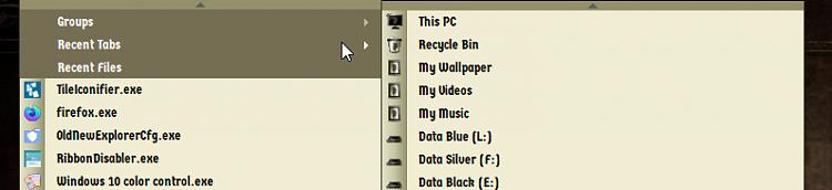 "Windows Explorer's Jumplist reads ""frequent"" but shows recent-000133.png"