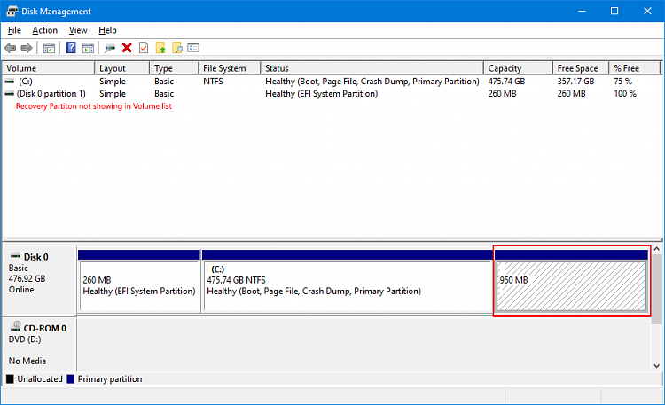 Windows Recovery partition missing from Volume list of Disk Management-diskmagmt.png