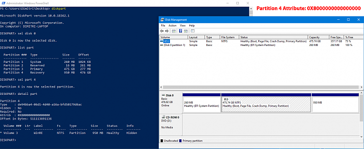 Windows Recovery partition missing from Volume list of Disk Management-diskmanagment-before.png
