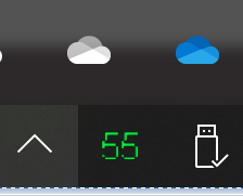 Hide Taskbar One drive syncing icons - 2 accounts, trying to hide 1-image.png