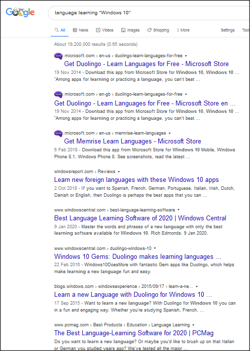 What are the language learning program for Windows?-1.png