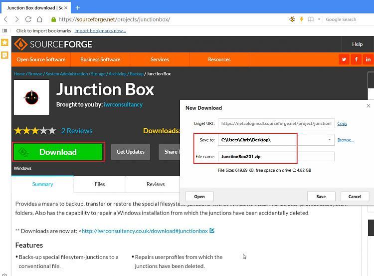 I messed up folder ownership off Appdata-junction-box-download-_-sourceforge.jpg