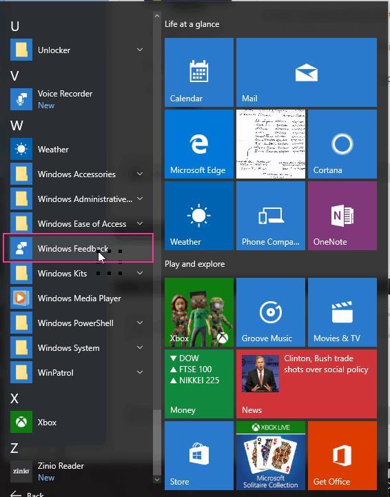 1234567891 Microsoft Way Redmond: What's The Best Way To Feedback On Windows 10?
