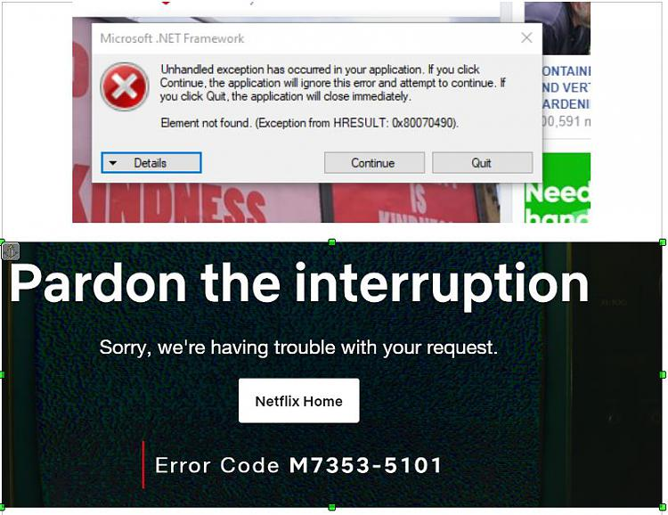 New Error Message And Now An Issue With Playing Video And Sound Windows 10 Forums Do it by yourself without help of anyone by clear the netflix cookies and disabling of the chrome extensions. new error message and now an issue with
