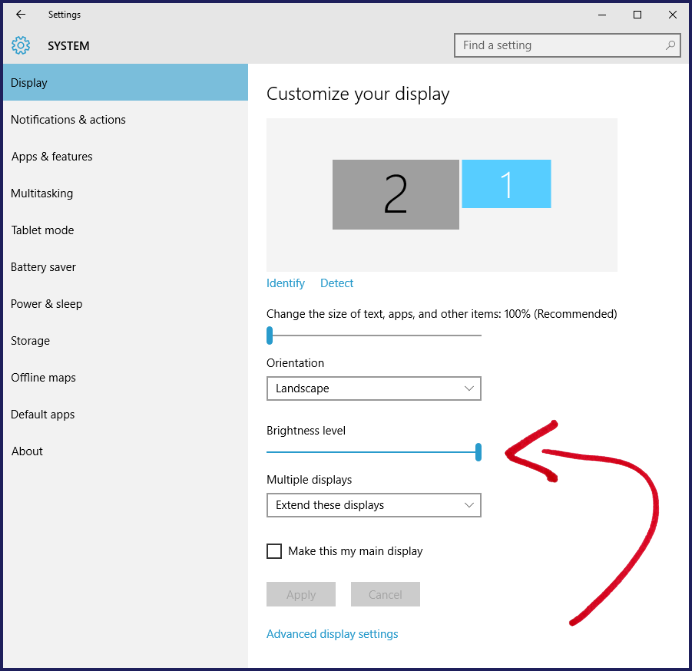 how to fix brightness problem on windows 10