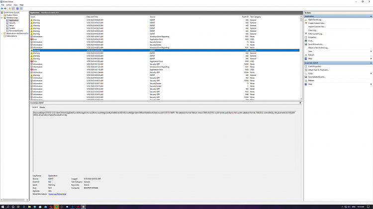 Event viewer: Warning ESENT source and cod mw force closes to desktop-screenshot-8-.png