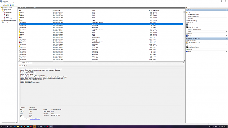 Event viewer: Warning ESENT source and cod mw force closes to desktop-screenshot-9-.png