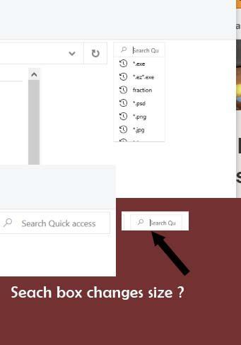 Search Box Changes to a tiny little font and often wont work-10forumssmallseacrhwindow.jpg