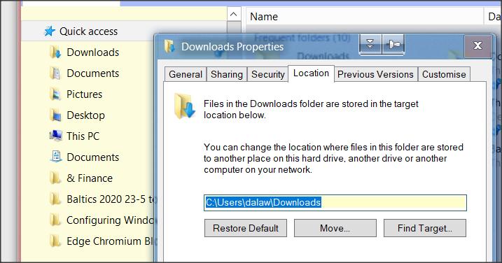 """Explorer displays outdated, unvalid download folder """"S:/""""-1.png"""