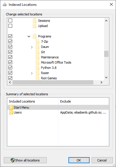 Windows 10 Search Indexing does not search my Start Menu Programs-4.png