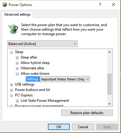 Cannot figure out what is now waking computer Solved - Windows 10 Forums