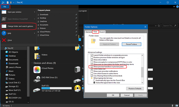 In Windows Explorer, how do I get the preview to work with PDF files?-1.png